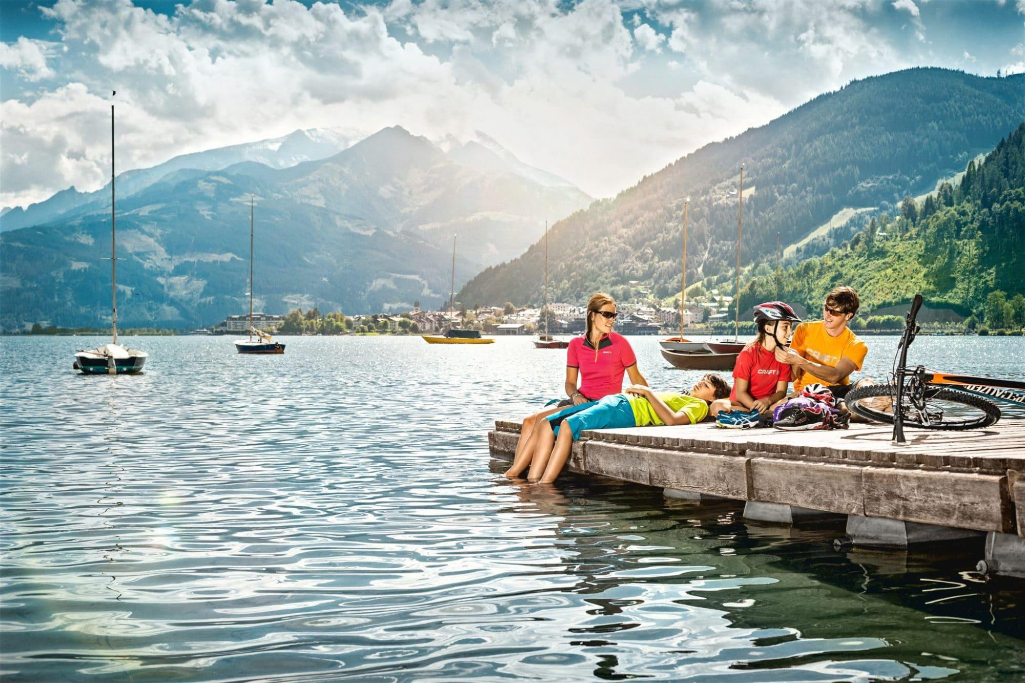 Tauernradweg Zwischenstopp am Zeller See (c) SalzburgerLand/Markus Greber